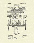 1901 Drawings Prints - Vehicle 1901 Patent Art Print by Prior Art Design
