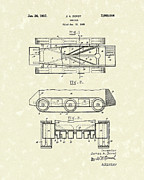1937 Drawings Framed Prints - Vehicle 1937 Patent Art Framed Print by Prior Art Design
