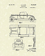 Shell Drawings - Vehicle Body 1931 Patent Art by Prior Art Design