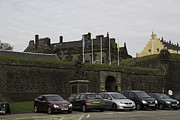 Castle Gates Framed Prints - Vehicles at the parking lot of Stirling Castle Framed Print by Ashish Agarwal