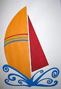 Sailboats Drawings - Velas by Zoe Vega Questell