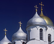 Church Photos Prints - Veliky Novgorod or Novgorod the Great Print by Unknown