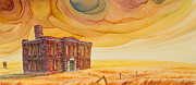 Abandoned School House. Painting Prints - Venanda Print by Scott Kirby