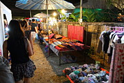 Vendor Prints - Vendors - Night Street Market - Chiang Mai Thailand - 011319 Print by DC Photographer
