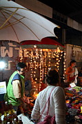 Merchant Prints - Vendors - Night Street Market - Chiang Mai Thailand - 011335 Print by DC Photographer