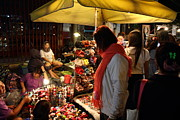 Vendors Prints - Vendors - Night Street Market - Chiang Mai Thailand - 01134 Print by DC Photographer