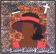 African American Art Tapestries - Textiles Framed Prints - Vendya #2 Framed Print by Aisha Lumumba