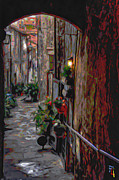 Urban Digital Art Originals - Venetian Alley by Byron Fli Walker