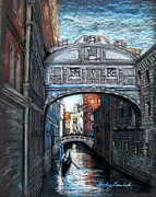 Europe Pastels - Venetian Bridge of Sighs by Shirley Leswick