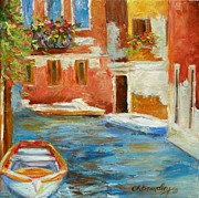 Chris Brandley Paintings - Venetian Canal by Chris Brandley