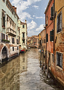 European City Digital Art Acrylic Prints - Venetian Canal III Acrylic Print by Sharon Foster