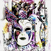 Twinkle Framed Prints - Venetian Mask Framed Print by Barbara Chichester