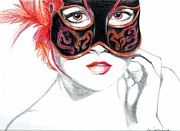 Dominick Hambrick - Venetian Mask Girl Ruby