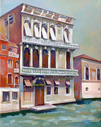 Italian Landscapes Paintings - Venetian Palace by Filip Mihail