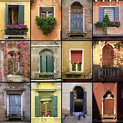 Photographs Mixed Media - Venetian Shutters Collage by Robyn Saunders