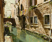 Relax Paintings - Venetian Solar Street by Oleg Trofimoff