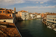 Chimneys Prints - Venetian View of the Grand Canal  Print by Georgia Mizuleva