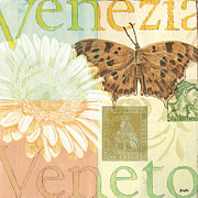 Bloom Painting Posters - Venezia Poster by Debbie DeWitt