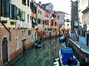 Gondola Mixed Media Framed Prints - Venezia from the gondola Framed Print by Piero Lucia