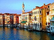 Marco Mixed Media Framed Prints - Venezia Grand Canal Framed Print by Phillip Allen
