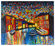 Italian Night Life Prints - Venezia Grande Canal at Dusk Print by Ricardo Of Charleston