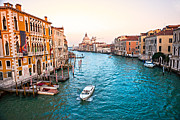 Venetian Balcony Posters - Venice - view of grand canal Poster by Luciano Mortula