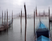 Venice 2 - Venice Italy - Blue - Black And White - Abstract - Digital Painting - Fine Art Photograph Print by Artecco Fine Art Photography - Photograph by Nadja Drieling