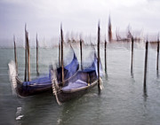 Venice 3 - Venice Italy - Blue - Black And White - Abstract - Digital Painting - Fine Art Photograph Print by Artecco Fine Art Photography - Photograph by Nadja Drieling