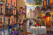 Venice Al Fresco Print by Dominic Davison
