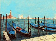 Peaceful Scene Pastels Framed Prints - Venice Framed Print by Anastasiya Malakhova