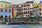 Gondolier Digital Art Framed Prints - Venice Architecture 3 Framed Print by Yury Malkov
