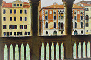 Gondolier Digital Art Framed Prints - Venice Architecture 4 Framed Print by Yury Malkov