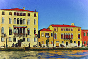 Gondolier Digital Art Framed Prints - Venice Architecture 5 Framed Print by Yury Malkov
