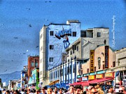 Ketchup Framed Prints - Venice Beach Boardwalk Framed Print by Kip Krause