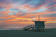 David  Zanzinger - Venice Beach Lifeguard Station Sunset