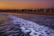 Landmark Pyrography Prints - Venice Beach Sunset Print by Dmitry Chernomazov