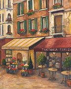 Bistro Paintings - Venice Bistro by Joanne Morris