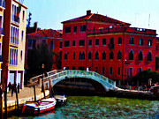 Venice Bow Bridge Print by Bill and Pat Cannon