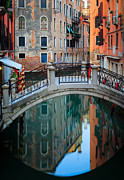 Venice Bridge Print by Inge Johnsson