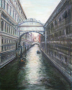 Quin Sweetman Paintings - Venice Bridge of Sighs - Original Oil Painting by Quin Sweetman