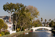 Venice Beach Palms Framed Prints - Venice Canal Bridge Framed Print by Tomas Benavente