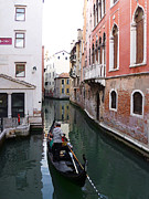 Watercolor Map Photos - Venice Canal   by Irina Sztukowski
