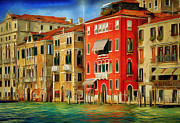 Gondolier Framed Prints - Venice Canals 13 Framed Print by Yury Malkov