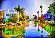 Titled Art Slide Show - Venice Canals by Chuck Staley