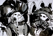 Mona Edulescu Paintings - Venice Carnival 4 by EMONA Art