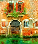 Boxes Paintings - Venice Door by Diana Ralph