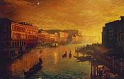 Blue Sky  Posters - Venice from the Rialto Bridge Poster by Blue Sky