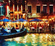 T Travel Prints - Venice Glow Print by Mo T