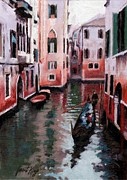 Venice Gondola Ride Print by Janet King