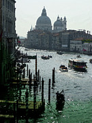 Watercolor Map Photos - Venice Grand Canale Italy Summer by Irina Sztukowski